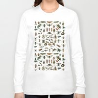 insects Long Sleeve T-shirts featuring Insects by Noughton