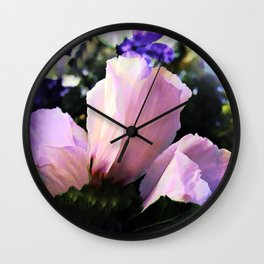 Floral In The Pink Wall Clock