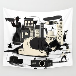 City Life Wall Tapestry