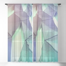 Dark Pastel by Brian Vegas Sheer Curtain