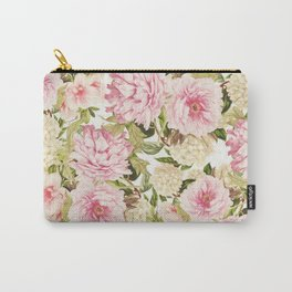 vintage peonies and hydrangeas Carry-All Pouch