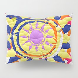Colorful Quilted sun pattern Abstract Pillow Sham