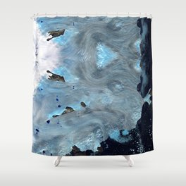 Our only state is flux Shower Curtain