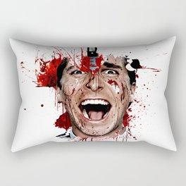American Psycho Patrick Bateman serial killer digital artwork Rectangular Pillow