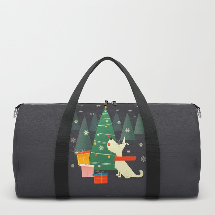 Little White Christmas Westie Duffle Bag