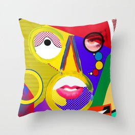 Color portrait Throw Pillow