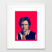 han solo Framed Art Prints featuring Han Solo  by Jemma Klein