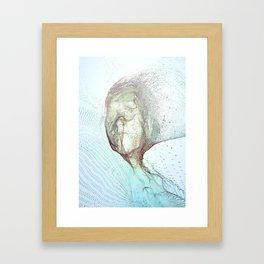Fragments of a face Framed Art Print