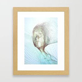 Fragments of a face Framed Art Print