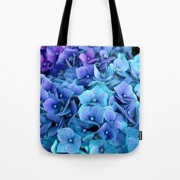 Purple Blue hydrangea Tote Bag