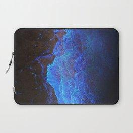 Night Ocean Glowing Waves - Bioluminescent Plankton Laptop Sleeve