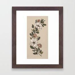 Floral Laurel Framed Art Print
