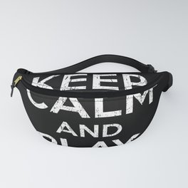 Keep Calm And Play Soccer Fanny Pack
