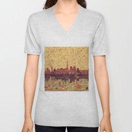 Paris skyline  Unisex V-Neck