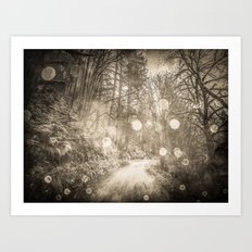 Nature Path - Vintage Sepia Magical Trail Art Print