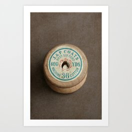 Vintage Cotton Reel Art Print