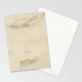 Vintage Map of The Virgin Islands (1921) Stationery Cards