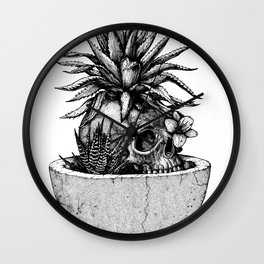 Spring (Black version) Wall Clock