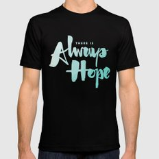 There is Always Hope Black MEDIUM Mens Fitted Tee