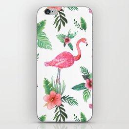Flamingo Floral Tropical iPhone Skin