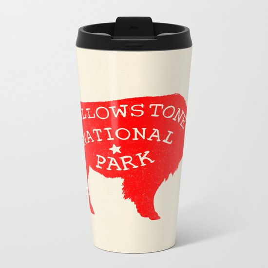 Yellowstone National Park  Metal Travel Mug