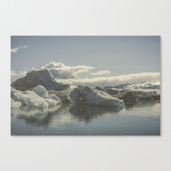 Icebergs V Canvas Print
