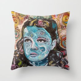 Trouble in Mind Throw Pillow