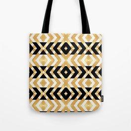Art Deco Gold Foil Chevron Tote Bag