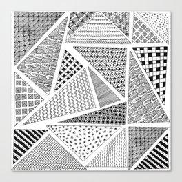 Triangle Zentagle Pattern Canvas Print