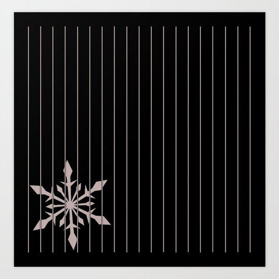 snowflake 3 Art Print