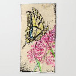 Collette's butterfly Beach Towel