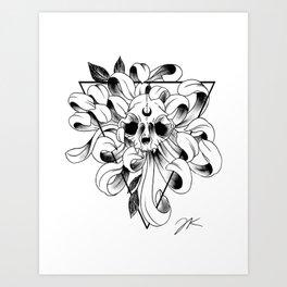 Lunar Triangle Art Print