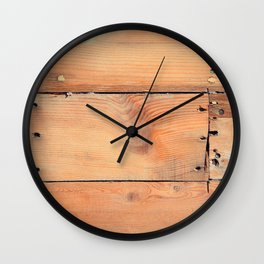 Wooden ship board with nails and screws Wall Clock
