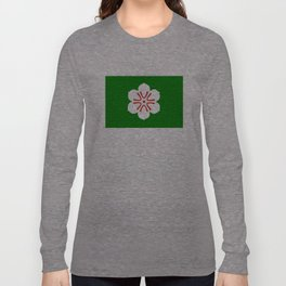 saga region flag japan prefecture flower Long Sleeve T-shirt