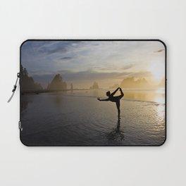 Yoga at Shi Shi Beach, Washington Color Laptop Sleeve