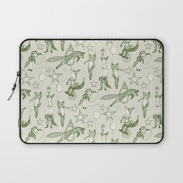 foxy circus green ivory Laptop Sleeve