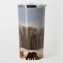 Peshtigo Horses Travel Mug