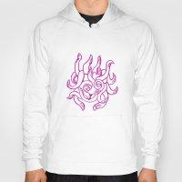 kraken Hoodies featuring Kraken by Glyphoteque