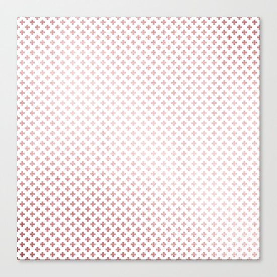Simply Crosses in Rose Gold Sunset Canvas Print