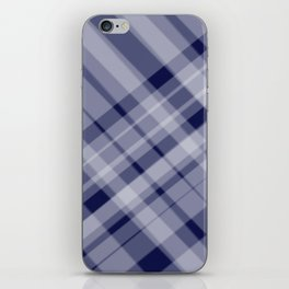 blue and white picnic iPhone Skin