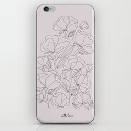 flowers, with love iPhone Skin