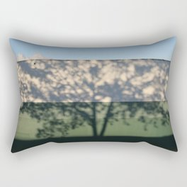 Shadow Tree on an industrial building Rectangular Pillow