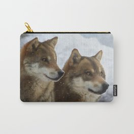 Twin Wolves Carry-All Pouch
