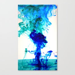 Turquoise ink Canvas Print