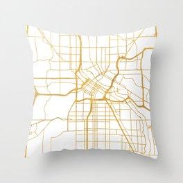 MINNEAPOLIS MINNESOTA CITY STREET MAP ART Throw Pillow