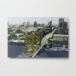 Sacramento Tower Bridge Metal Print