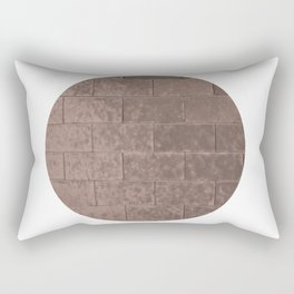 Muted Textures: Wall No. 2 Rectangular Pillow