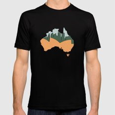 Sydney - Australia Mens Fitted Tee MEDIUM Black