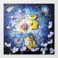 nursery Canvas Prints featuring Toxic Nursery by CalaNooka