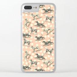 Dalmatian Dogs Pattern Clear iPhone Case